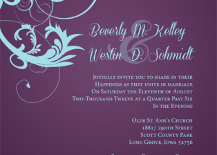Beverly + Westin Wedding Invitation