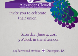 Amanda + Alex Wedding Invitation
