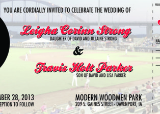 Leigha + Travis Wedding Invitations